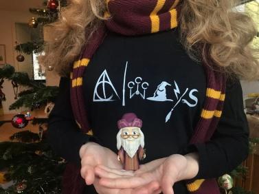 """Shirt """"Always"""" von den Bookrebells und Albus Dumbledore als Funko Five Star"""
