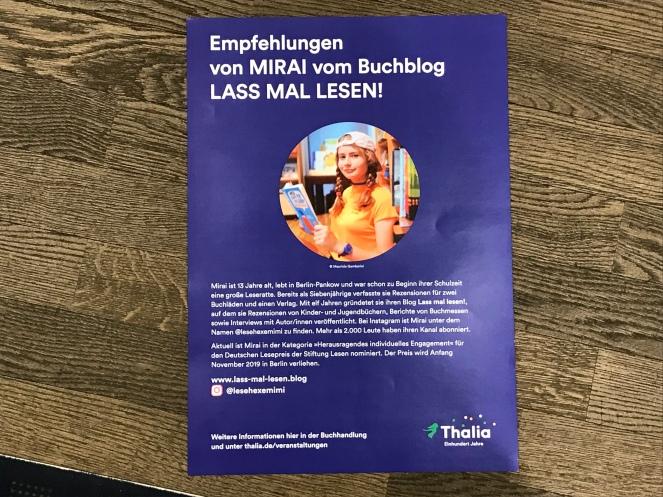 werbeplakat für den Thalia-Tisch