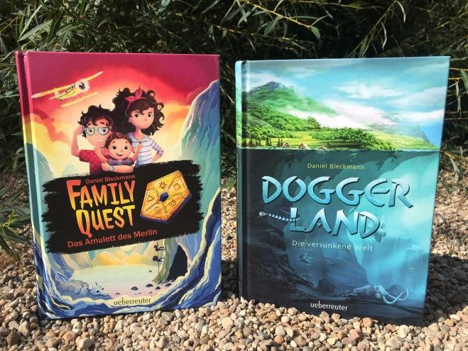 Buchbaby 1 und 2. Im wahren Leben hat Daniel auch zwei Kinder: Einen Sohn und eine Tochter.